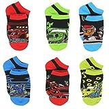 monster feet socks - Blaze and the Monster Machines Little Boys 6 pack Socks (4-6 Toddler (Shoe: 7-10), Black/Multi)