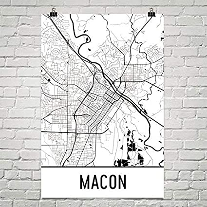 Amazon Com Macon Print Macon Art Macon Map Macon Ga Macon