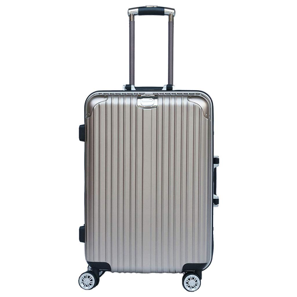 Mesurn JP ユニバーサルホイールトロリーケース、合金アルミフレーム材、2段ロック3桁コードロック、搭乗スーツケース   B07NYD5CQP