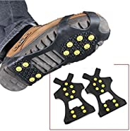 Leebei 2Pcs Non-Slip Shoe Cover Ice Snow Grips Over Shoe Boot Traction Cleat Rubber Spikes Anti Slip Mountaineering Non-Slip
