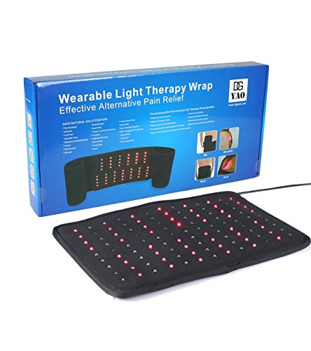 Red Light Therapy Wrap for Back Shoulder Neck Pain Near Infrared Light Heat Pads-Extra Large Led Light Pain Reliever Treatment
