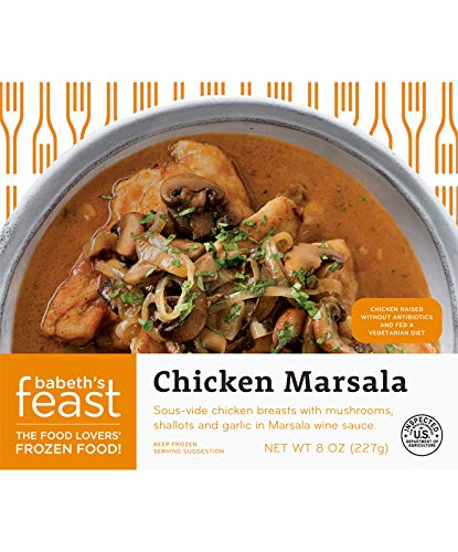 Babeth's Feast Chicken Marsala and Potatoes- Set of 6 / Gourmet Frozen Meal / No Preservatives