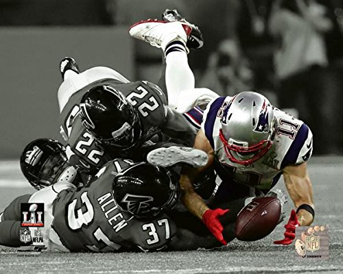 Julian Edelman New England Patriots Super Bowl LI Spotlight Action Photo (Size: 8