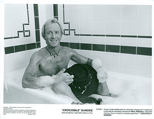 Vintage photo of Paul Hogan in the movie Crocodile Dundee