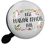 Small Bike Bell Happy Floral Border Marine Officer - NEONBLOND