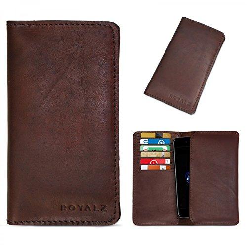ROYALZ case per Apple iPhone 8 / iPhone 7 Custodia di protezione sleeve accessori cover pelle marrone scuro