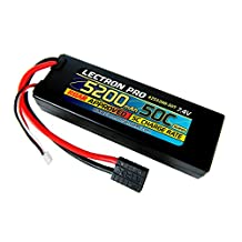 Lectron Pro 7.4 volt - 5200mAh 50C Lipo Battery Pack for the Traxxas Slash and Slash 4X4 models, E-Maxx Brushless Edition, E-Revo Brushless Edition, and Spartan with Traxxas-type Connector