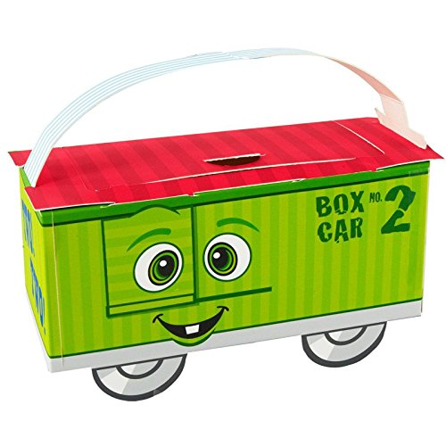 2nd Birthday Train Party Supplies - Empty Favor Boxes (4) ()