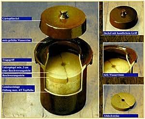 Steinzeug Schnitt - Olla de cerámica para hacer chucrut (20 l)