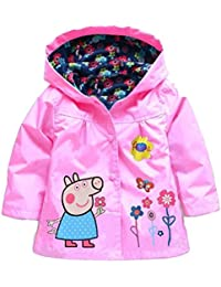 Cute Flower Baby Girls Kids Coat Jacket Coat Hoodie Outwear