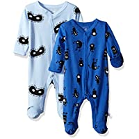 Rosie Pope Baby Newborn Boy's 2 Pack Coveralls, Petite Four, 0-3 Months