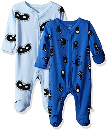 Rosie Pope Baby Coveralls 2 Pack, Blue, 3-6 Months