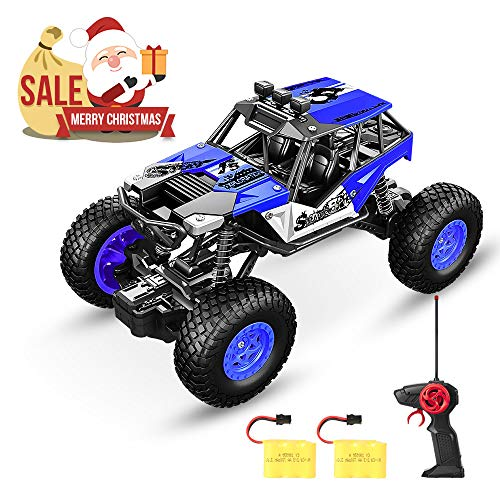 SPESXFUN Remote Control Car, 2018 Newest Vision RC Car Off Road RC Truck Hobby Toy Cars Small Electric Vehicle Crawler for Kids and Adults with Two - Adults Car Remote Big For Control