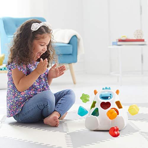 51bSgTdKK4L - Skip Hop Yeti Shape Sorter Explore & More 3-Stage Spinning & Sorting Developmental Learning Toddler Toy
