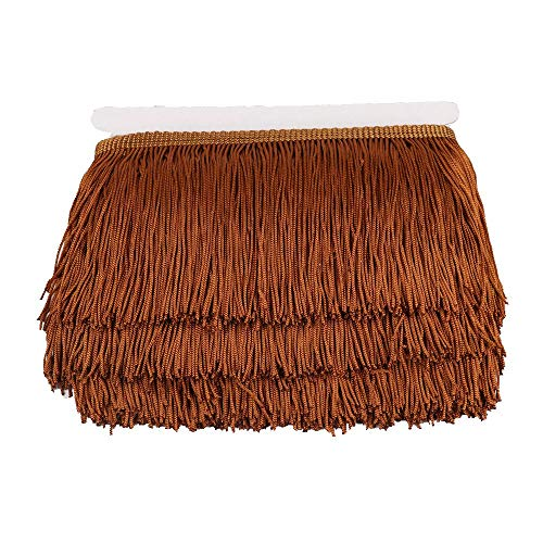 - Heartwish268 Fringe Trim Lace Polyerter Fibre Tassel 4inch Wide 10 Yards Long for Clothes Accessories Latin Wedding Dress DIY Lamp Shade Decoration Black (Coffee)