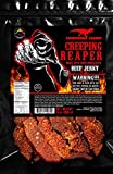 """""""Creeping Ghost"""" Carolina Reaper Beef Jerky (1)-3oz Bag The Reaper is the HOTTEST Pepper in the world! Sweet with Heat~"""