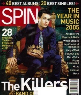 Spin Magazine January 2006 The Killers (Single Back Issue)
