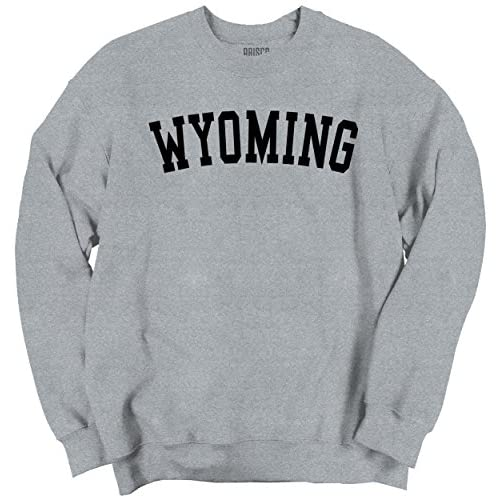 Cheap Classic Teaze Wyoming State T Shirt Sweatshirt Souvenir University Font Sweatshirt free shipping