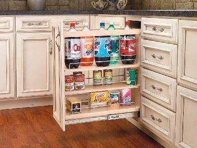 Door Mount 8 in 4-Tier Pull-Out by Rev-A-Shelf
