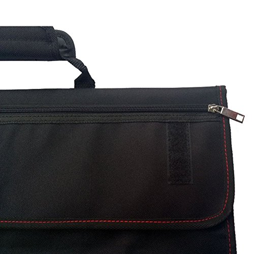 Waterproof Chef's Knife Roll Bag Multi Purpose Canvas Knife Roll Bag Pouch with Handle Strap HGJ03-R-US by Hersent (Image #4)