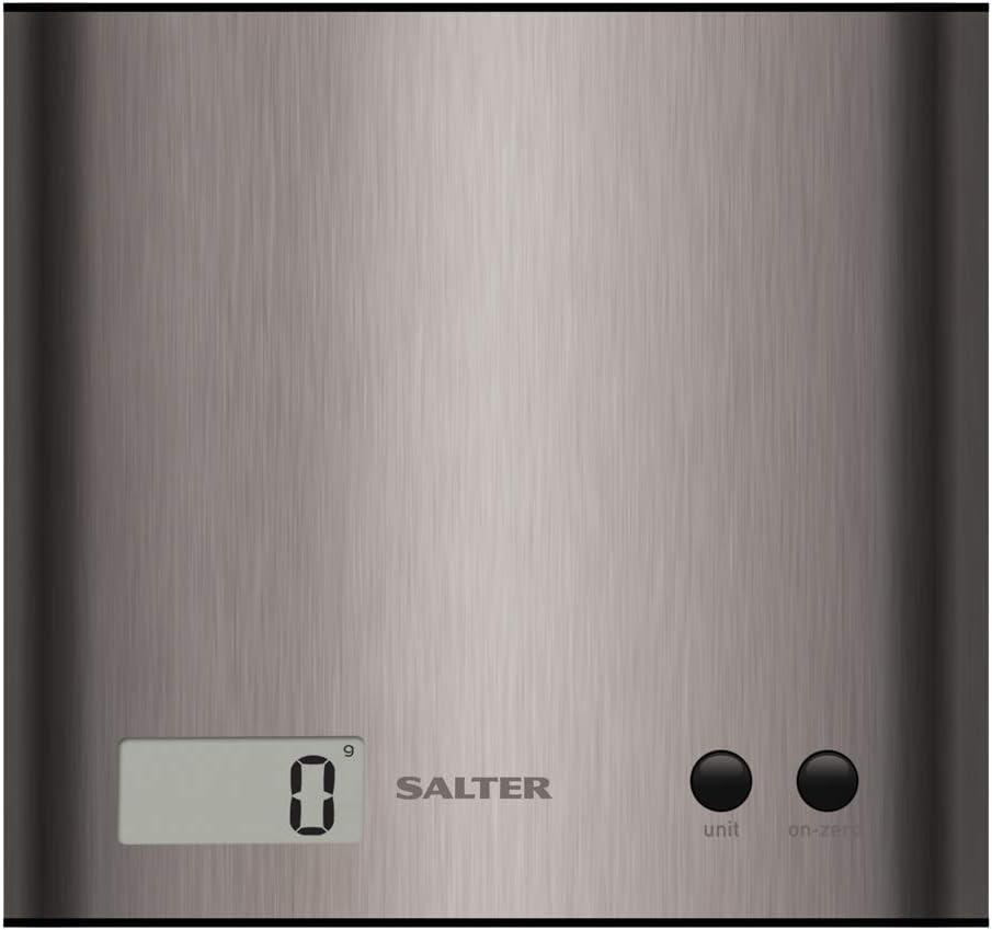 Salter 1087 SSDR Báscula de cocina digital, línea Steel y aquatronic, 3 Kg, Negro, Acero Inoxidable: Amazon.es: Hogar