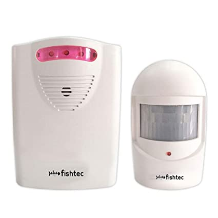 FISHTEC ® Detector de presencia: alarma o timbre inalámbricos