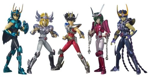 BANDAI Saint Seiya Saint Cloth Myth - Five Warrior gathered set (painted finished figure) (Japan Import)