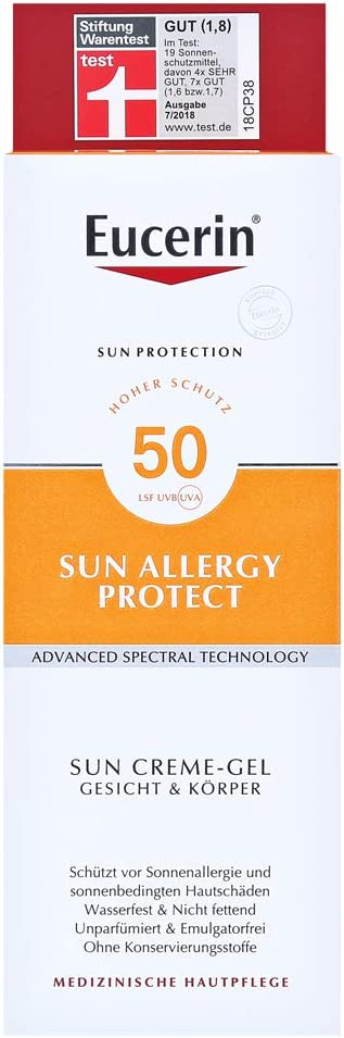 Eucerin Allergy Protection Sun Creme-Gel Sunscreen FP 50