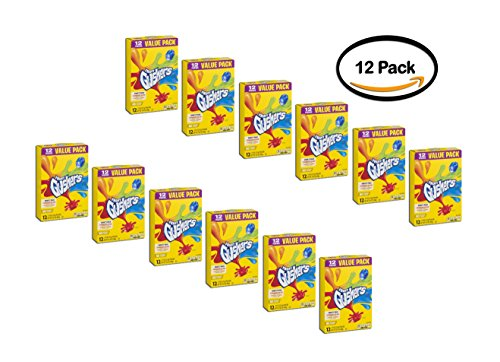 PACK OF 12 - Betty Crocker Fruit Snacks, Gushers, Variety Snack Pack, 12 Pouches, 0.9 oz Each, 0.9 OZ