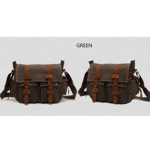 XY Fancy - Bolso al hombro para hombre marrón marrón, gris (gris) - RH#BB0829-0218-GC20 Armee-Grün