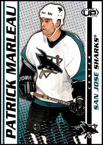 2003 Official Head - 2003-04 Pacific Heads Up #83 Patrick Marleau San Jose Sharks Official NHL Hockey Trading Card