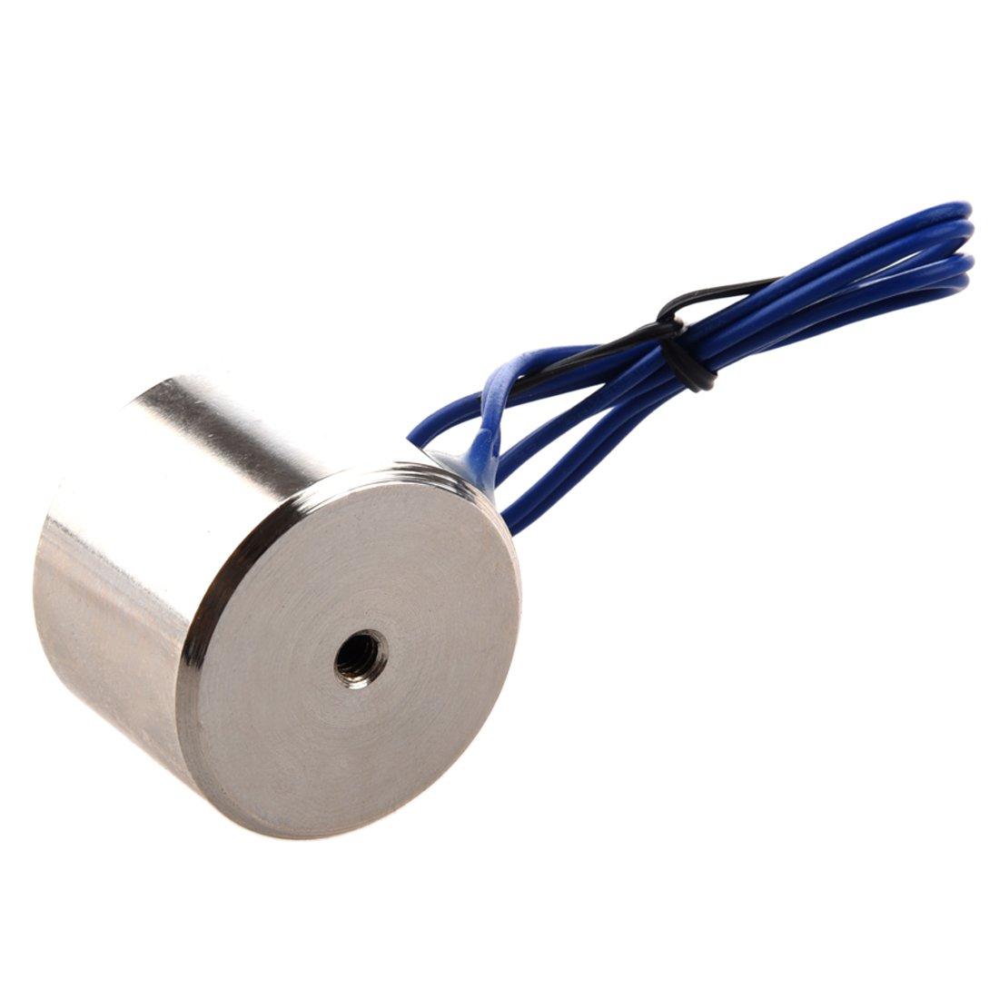 R SODIAL 10Kg 22LBS 12V 5W Iman de elevacion electrico Electroiman Solenoide Electroiman levante propiedad