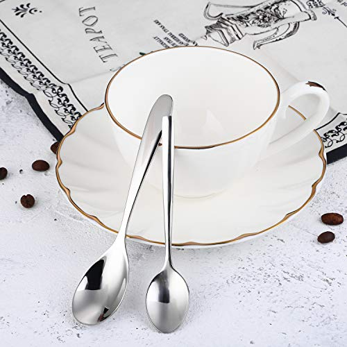 Coffee Spoon, Stainless Steel Spoon Set Mixing Spoon Ice Cream Spoon Long Spoon Iced Tea Spoon Coffee Spoon Dessert Spoon Milkshake Spoon,Set of 2(Ice spoon)