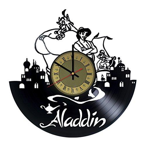 Disney Aladdin Vinyl Wall Clock Disney Princess Unique Gifts Living Room Home Decor