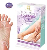 Exfoliating Foot Peel Mask for Silky Soft Baby Feet Treatment With Natural & Hydrating Extracts For Men & Women | Remove Calluses, Restore Rough Heels, Soften Skin-2 Pairs by Skincare DeLuxe