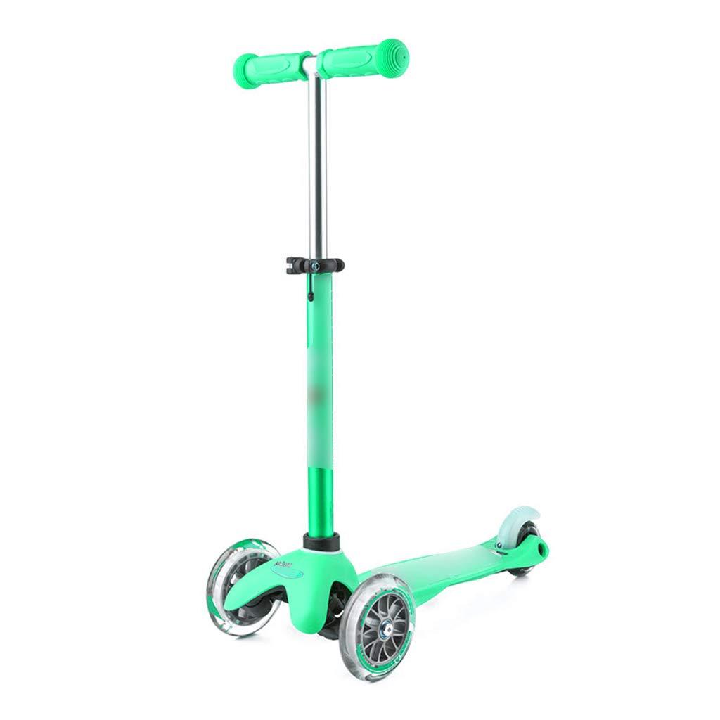 スケートボード スクーター子供のスクーター子供の赤ちゃん三輪スクーターは、2-5歳の子供に適してマルチカラーオプション スケートボード (Color : 緑) 緑