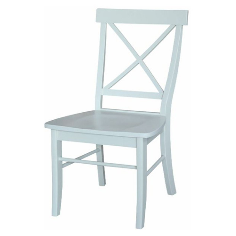 Amazon.com - International Concepts X-Back Dining Chairs with Solid ...