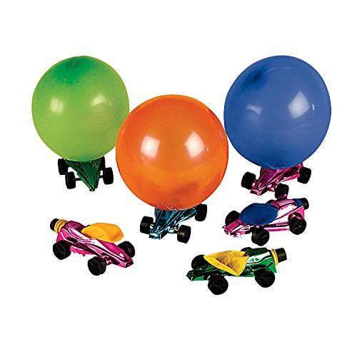 Car Balloon Racers (Set of 12) Fun Party Toys (Best Wheels For Balloon Powered Car)