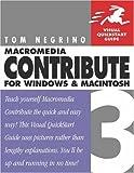 Macromedia Contribute 3 for Windows and Macintosh, Tom Negrino, 0321267885