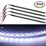 EverBright® 4-Pack White 30CM 1210 32-SMD DC 12V Knight Rider Flexible LED Strip Light For Car motorcycles Decoration Interior Exterior Atmosphere Lamp Bulbs with built-in 3M Tape