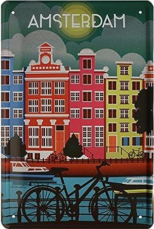 Amsterdam gracht bicicleta Países Bajos Holland Cartel de ...