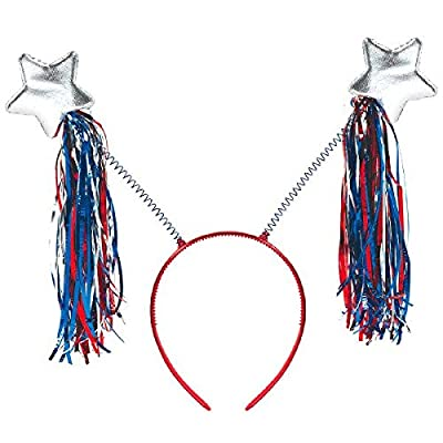 "Patriotic Party Tinsel Headband, 10 1/4"" X 10"": Toys & Games"