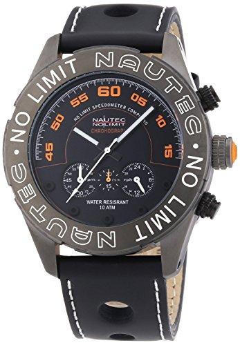 Nautec No Limit DK QZ/LTGMBK - Men's Watch, Leather, Color: Black