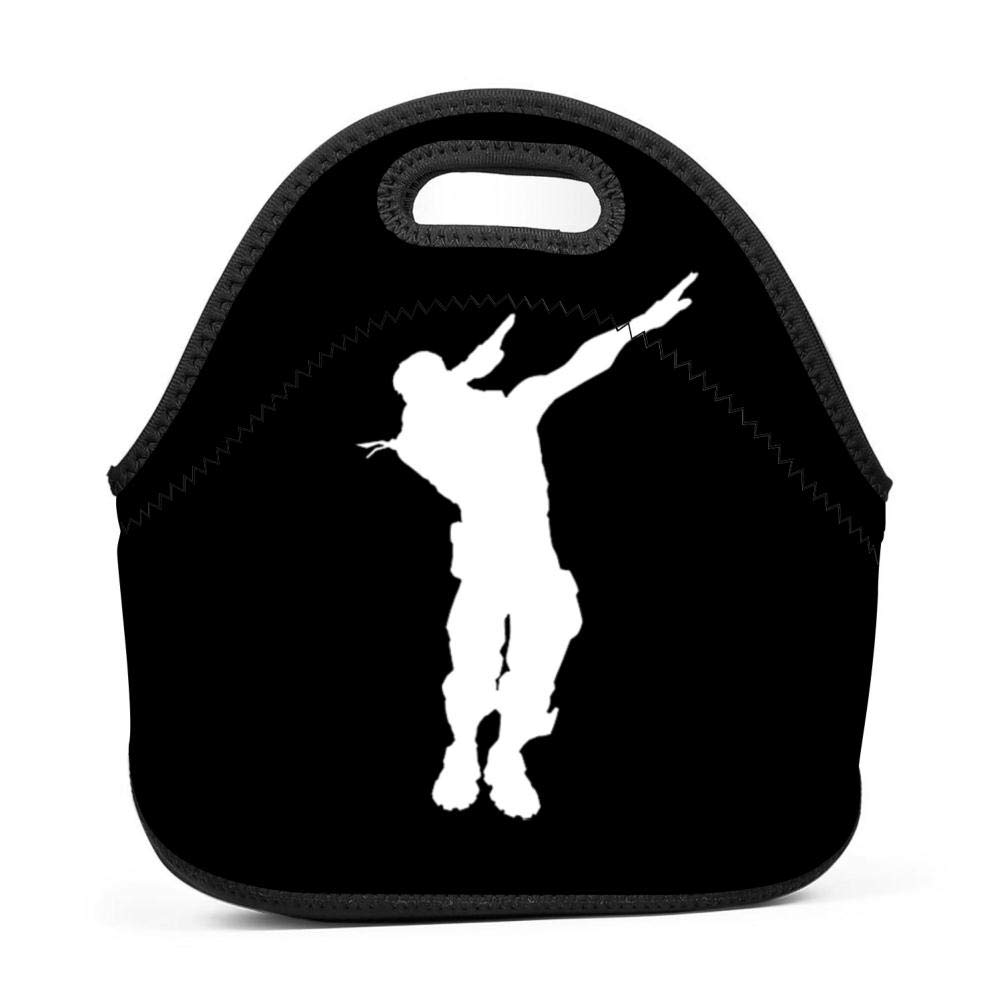 Ryaody Lunch Tote Fortnite Dabing Lunch Bag Adult Kids - Idea Beach, Picnics, Road Trip, Meal Prep,Daily, Lunch to Work School