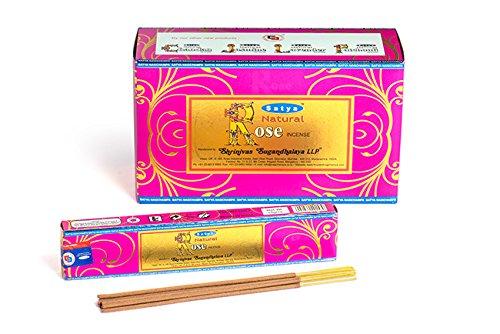 Satya Natural Rose Incense Sticks 180 Grams Full Box