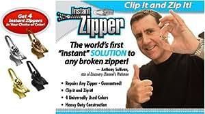 Instant Zipper- Set of 4 Replacement Zippers in Bronze (Brasstone)