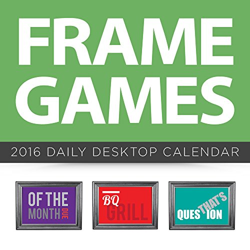 2016 Frame Games Daily Desktop Calendar