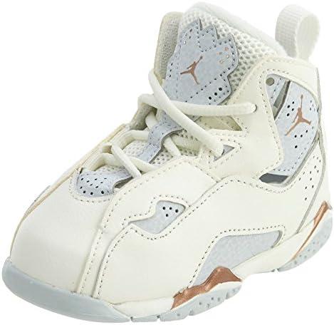 quality design 1bbea 0392e Jordan Girl s True Flight (TD) Toddler Shoe, Sail Metallic Red Bronze-