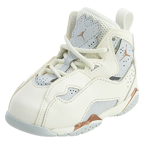 Jordan Girl's True Flight (TD) Toddler Shoe, Sail/Metallic Red Bronze-Pure Platinum 6C ()