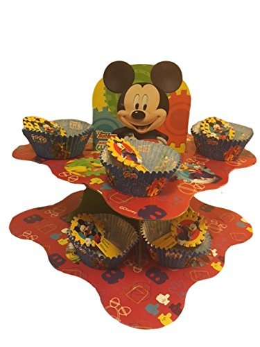Diseny Junior Mickey Mouse Clubhouse Snack Stand with Matching Cupcake Cups,Blue
